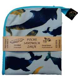 Poche sandwich décor 35x15 - Nature Baleine